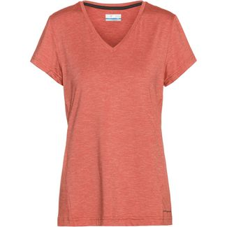 Columbia Bryce V-Shirt Damen dark coral heather