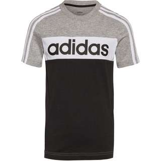 adidas ESS T-Shirt Kinder medium grey heather-black-white