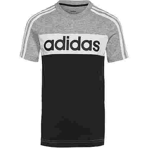 adidas ESS T-Shirt Kinder medium grey heather-black-white