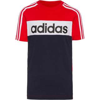 adidas ESS T-Shirt Kinder scarlet-legend ink-white