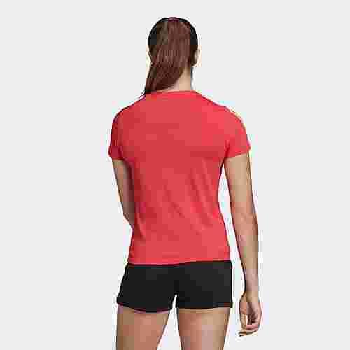 adidas Essentials 3-Streifen T-Shirt T-Shirt Damen Core Pink / White