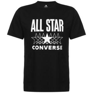 CONVERSE All Star T-Shirt Herren schwarz / weiß