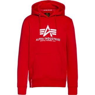 Alpha Industries Hoodie Herren speed red
