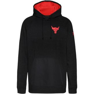 Under Armour Project Rock Hoodie Herren black full heather