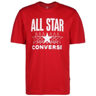 CONVERSE All Star T-Shirt Herren rot / weiß