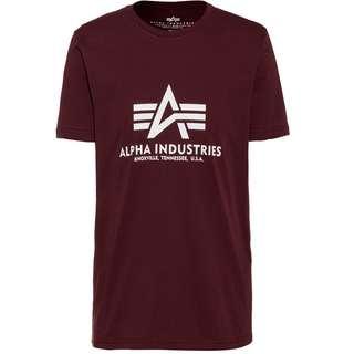 Alpha Industries T-Shirt Herren deep maroon