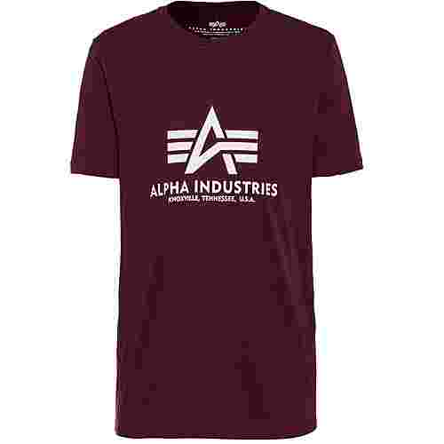 Alpha Industries T-Shirt Herren deep maroon