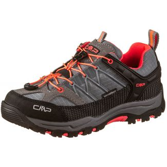 CMP Kids Rigel Low WP Wanderschuhe Kinder grey-red fluo