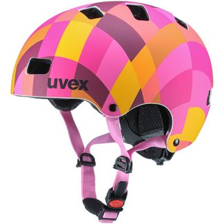 Uvex 3 cc Fahrradhelm Kinder red checkered mat