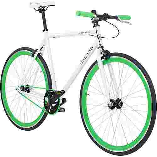 Galano Blade 700c Singlespeed Fixie Rennrad weiß/grün