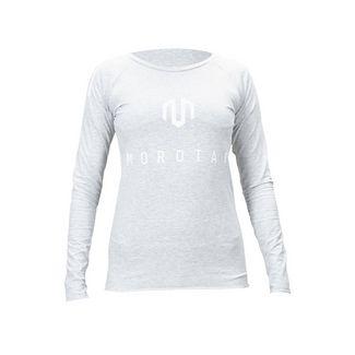 MOROTAI Jersey Bonded Longsleeve Langarmshirt Damen Hellgrau