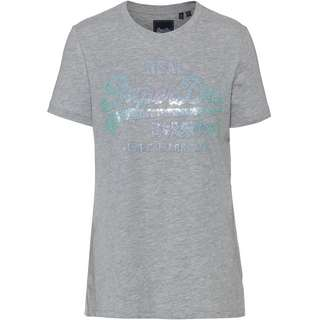Superdry T-Shirt Damen grey marl