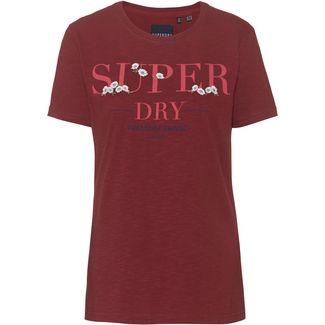 Superdry T-Shirt Damen rosewood slub