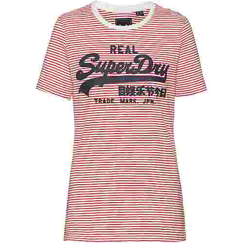 Superdry VINTAGE LOGO T-Shirt Damen ecru slub stripe