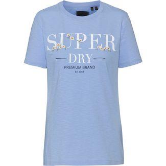 Superdry T-Shirt Damen blue heron slub