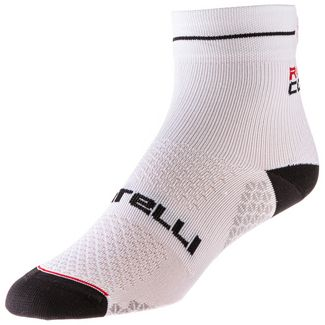 castelli ROSA CORSA DUE SOCK Sportsocken Damen white