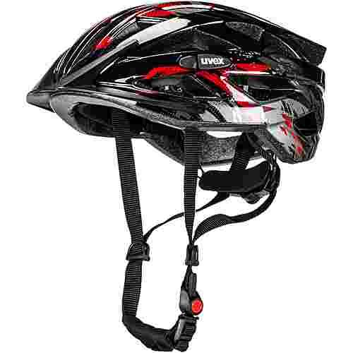 Uvex air wing Fahrradhelm Kinder black red