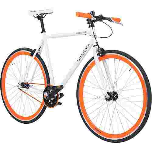 Galano Blade 700c Singlespeed Fixie Rennrad weiß/orange