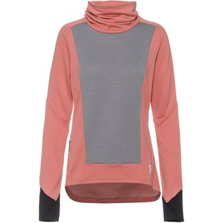 ON Laufshirt Damen dustrose-fossil