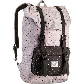 Herschel Rucksack Little America Mid-Volume Daypack polka dot crosshatch grey-black