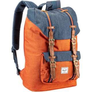 Herschel Rucksack Little America Mid-Volume Daypack indigo denim-picante crosshatch-tan