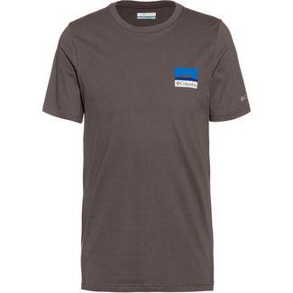 Columbia Rapid Ridge T-Shirt Herren city grey csc leafscape