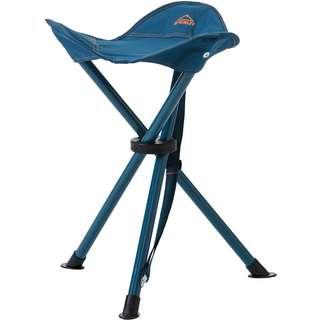 McKinley Hocker Dreibein Campingstuhl dunkelblau-orange