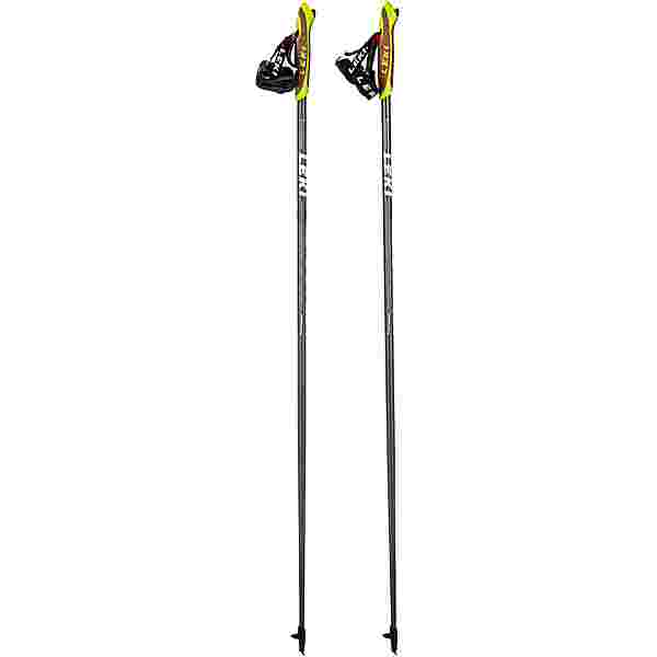 LEKI Elite Carbon Nordic Walking-Stock dunkelathrazit-white lime