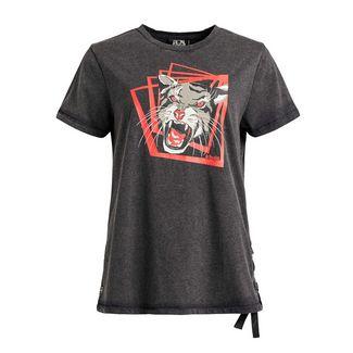 Khujo ALASTAIR SQUARE T-Shirt Damen anthrazit