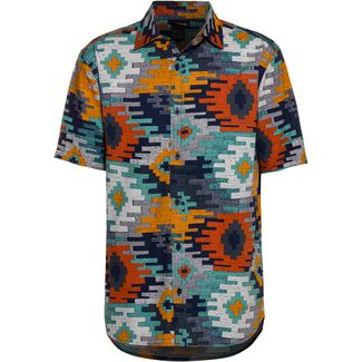 Burton Shabooya Kurzarmhemd Herren dress blue crooked kilim