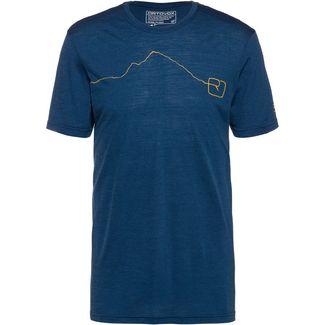 ORTOVOX Merino 120 TEC MOUNTAIN Funktionsshirt Herren blue lake