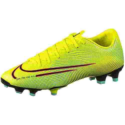 Nike MERCURIAL VAPOR 13 ACADEMY MDS FG/MG Fußballschuhe lemon venom-black-aurora green