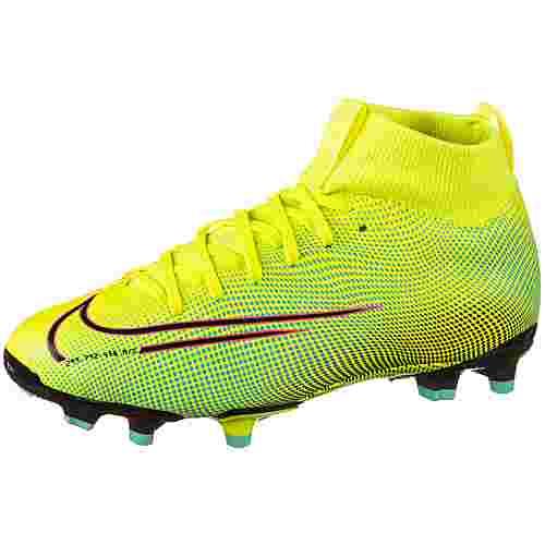 Nike JR MERCURIAL SUPERFLY 7 ACADEMY MDS FGMG Fußballschuhe Kinder lemon venom-black-aurora green