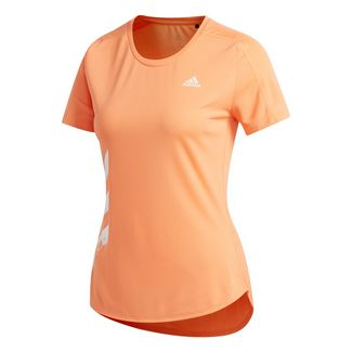 adidas Run It 3-Streifen Fast T-Shirt T-Shirt Damen Orange