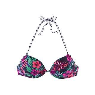 VENICE BEACH Bikini Oberteil Damen marine-bedruckt