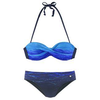 Lascana Bikini Set Damen blau-bedruckt