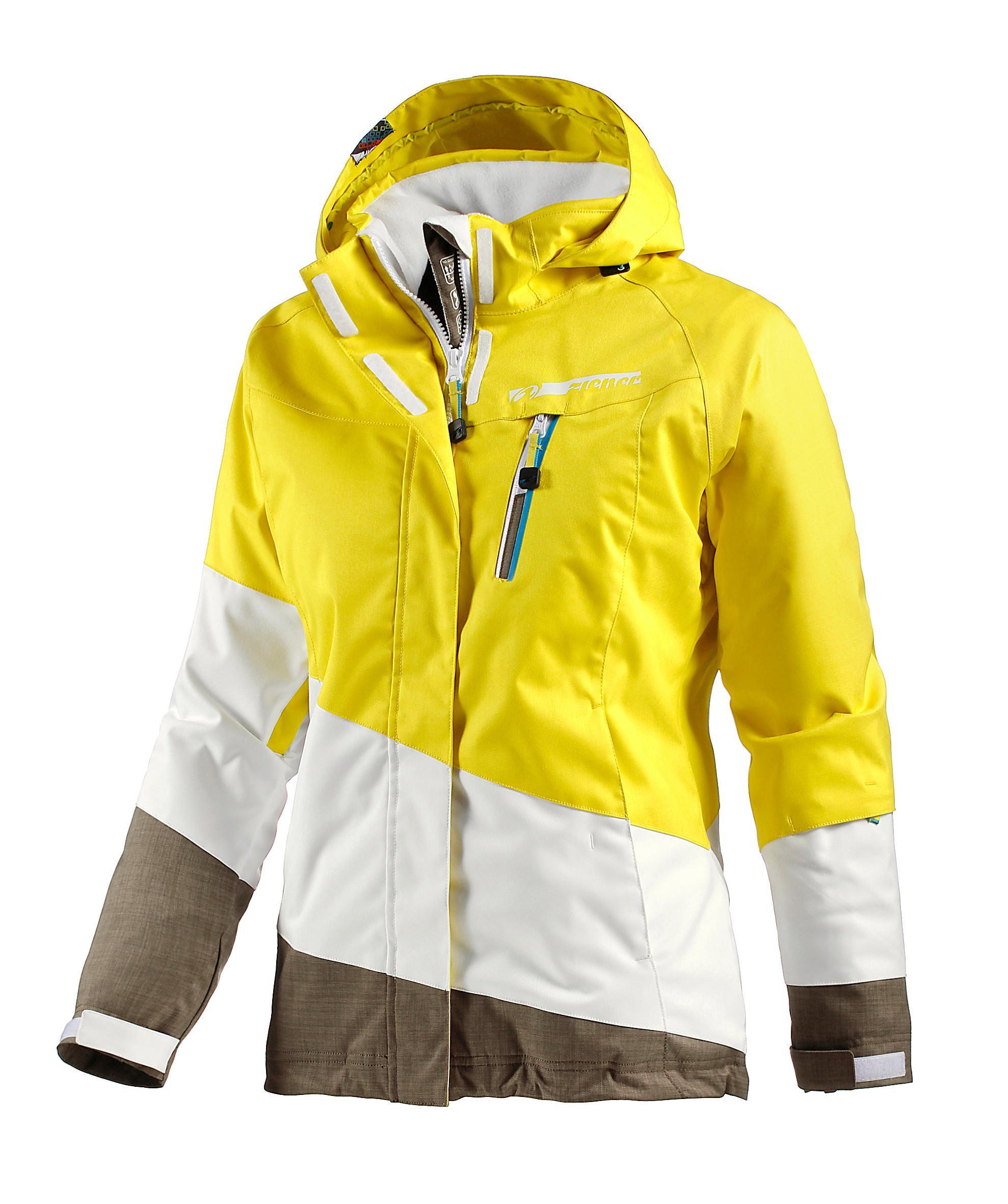 Ziener skijacke damen gelb