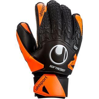 Uhlsport Soft Resist Flex Frame Torwarthandschuhe schwarz-fluo orange-weiß