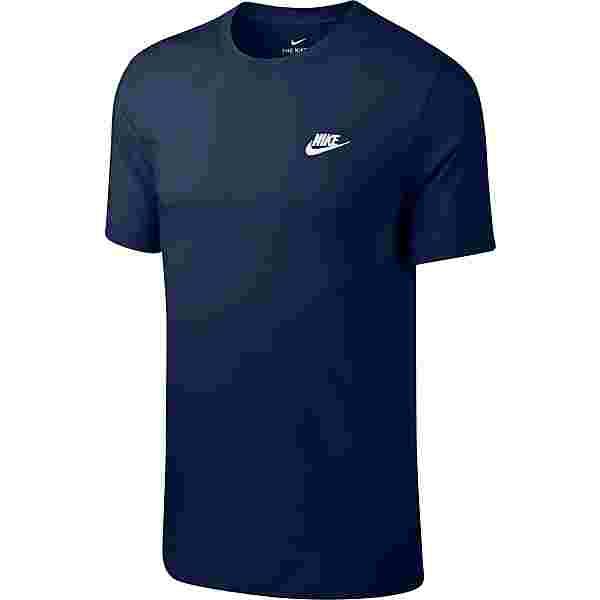 Nike NSW Club T-Shirt Herren midnight navy-white