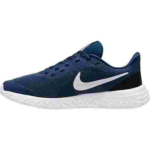 Nike Revolution 5 Laufschuhe Kinder midnight navy-white-black