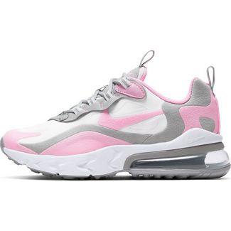 Nike AIR MAX 270 REACT Sneaker Kinder white-pink-lt smoke grey-metallic silver