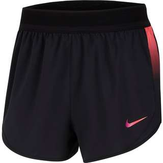 Nike Runway Funktionsshorts Damen black-laser crimson-vivid purple