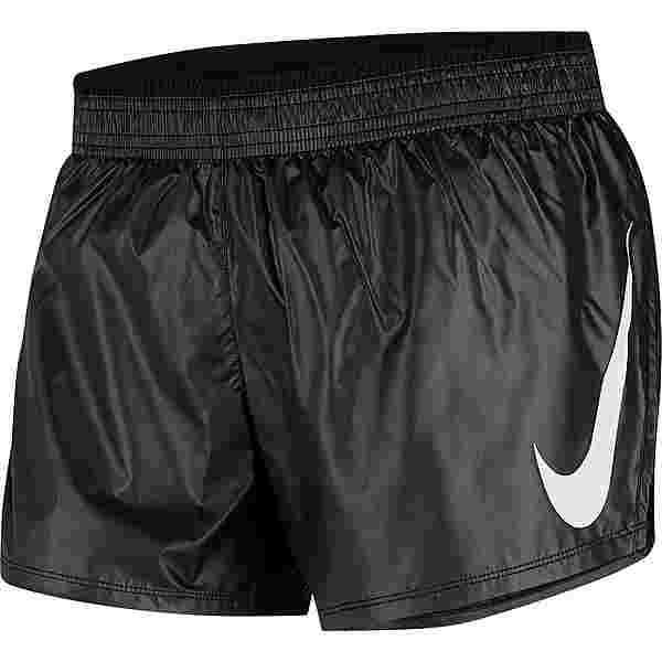 Nike Swoosh Funktionsshorts Damen black-black-white