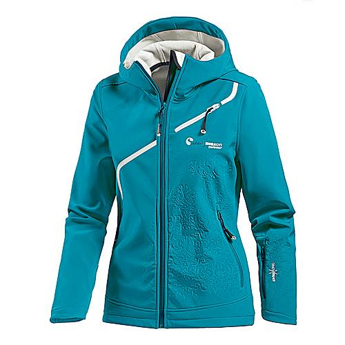 White Season Softshelljacke Damen türkis