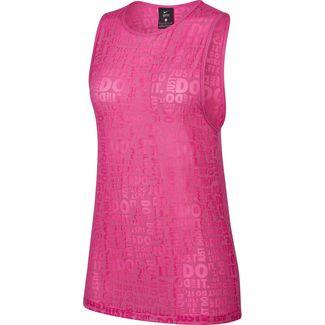 Nike Just Do It Funktionstank Damen fire pink-white