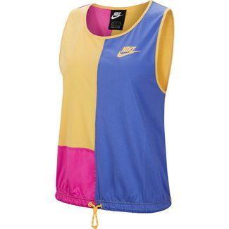 Nike NSW Icon Clash Tanktop Damen topaz gold-fire pink-sapphire