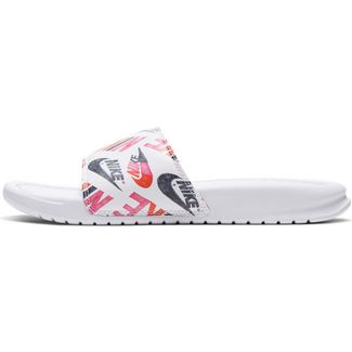 Nike Benassi JDI Badelatschen Damen white-black-lotus pink-team orange