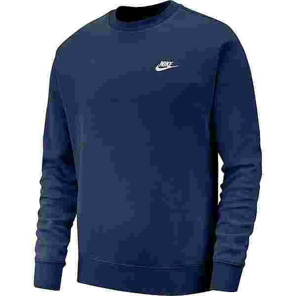 Nike NSW Club Fleece Sweatshirt Herren midnight navy-white