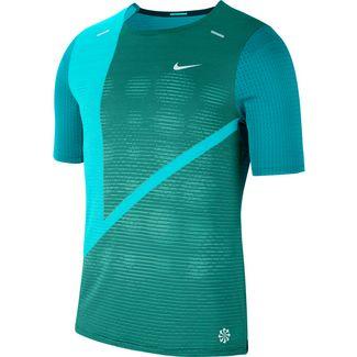 Nike Rise 365 Funktionsshirt Herren evergreen aura-reflection silver