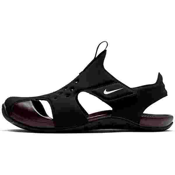 Nike Sunray Protect 2 Badelatschen Kinder black-white